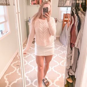 Baby pink aerie sweater